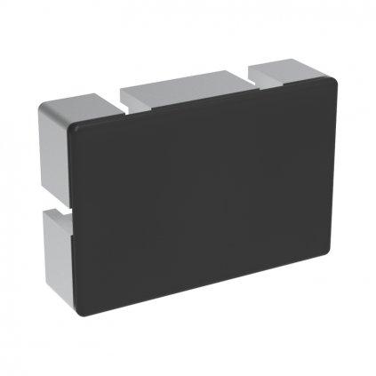 Záslepka profilu AC 45-8, 60x90, černá
