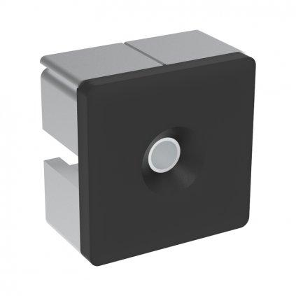 Záslepka profilu pro panely AC 45-8, 45x45, černá