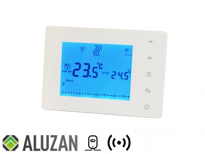 Beok BOT-X306, programovatelný přenosný, bezdrátový, pokojový termostat pro spínání kotlů pomocí radiových vln front