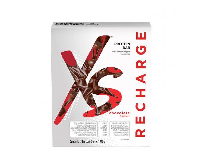 XS™ Proteinové tyčinky s příchutí čokolády 12 x 60 g