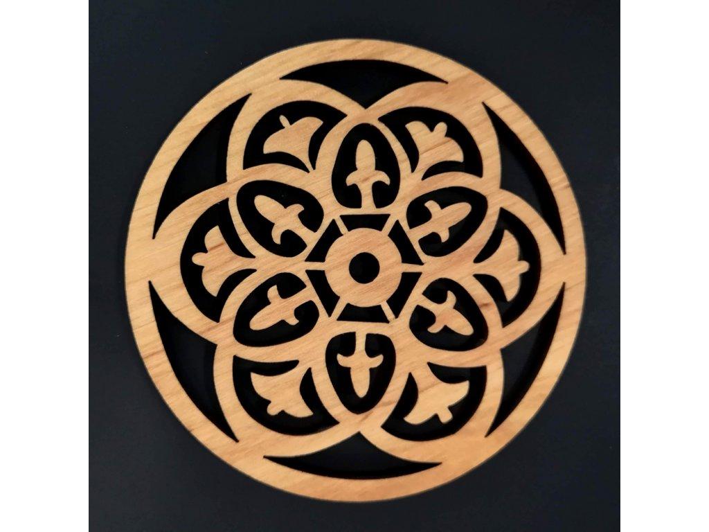 stolování dřevěný podtácek ornament