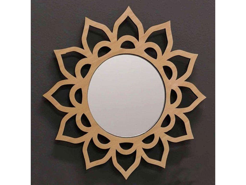 Dřevěné zrcadlo mandala