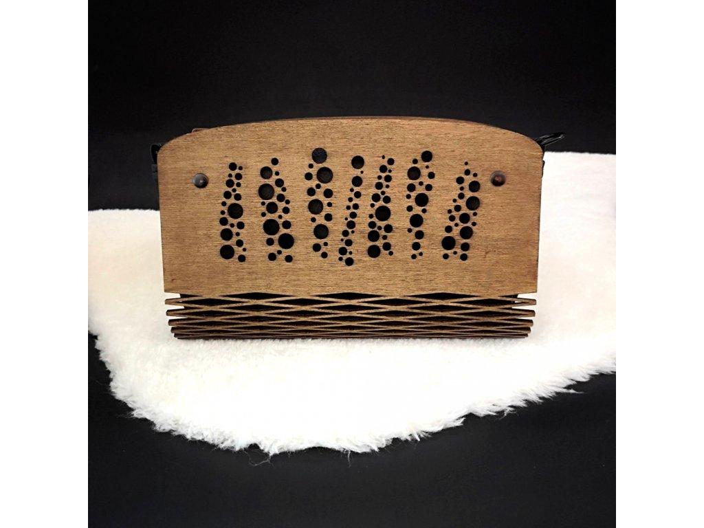 Dřevěná kabelka černá - bubliny 25 cm