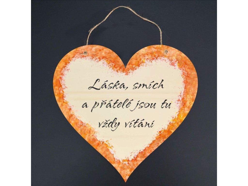 39225 srdce 21cm láska smích barva