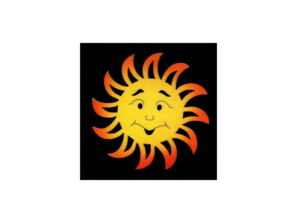 Dřevěná ozdoba barevná slunce 7 cm