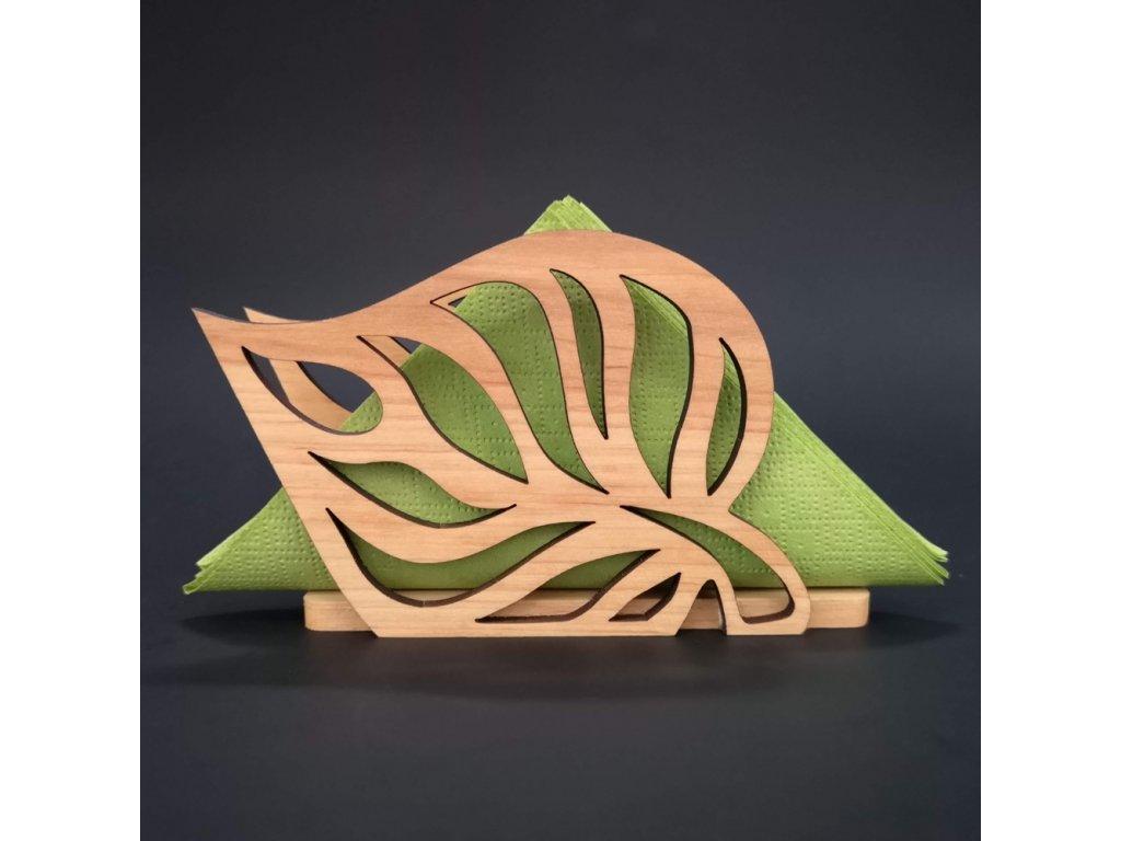 stolování dřevěný stojánek na ubrousky