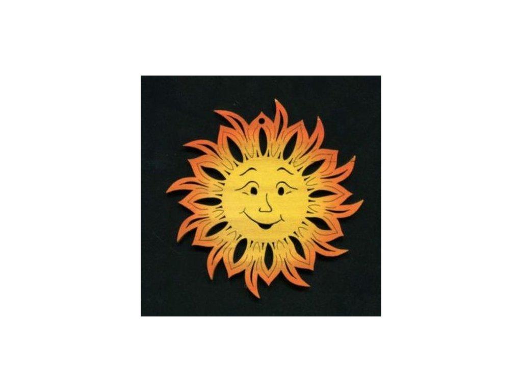 Dřevěná ozdoba slunce barevné 11 cm