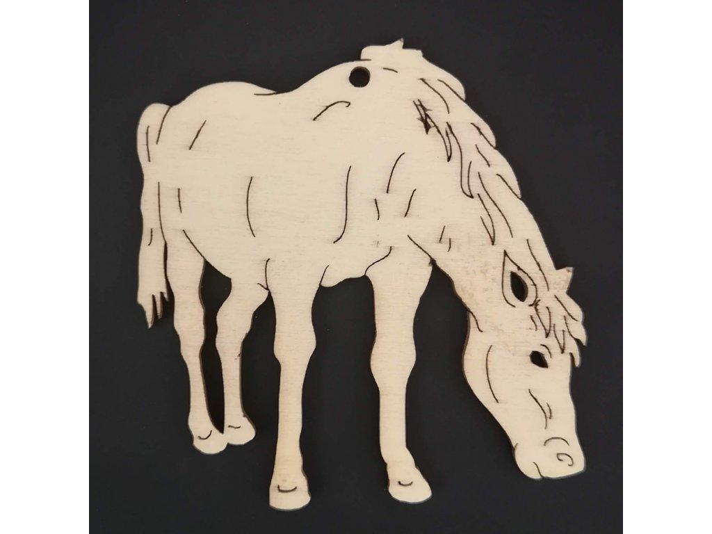 Dřevěná ozdoba kůň 7 cm