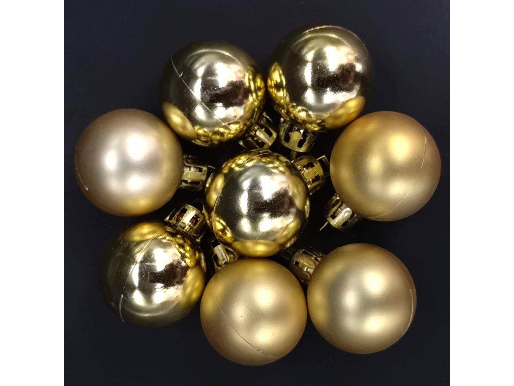 Náhradní koule zlaté 8 ks