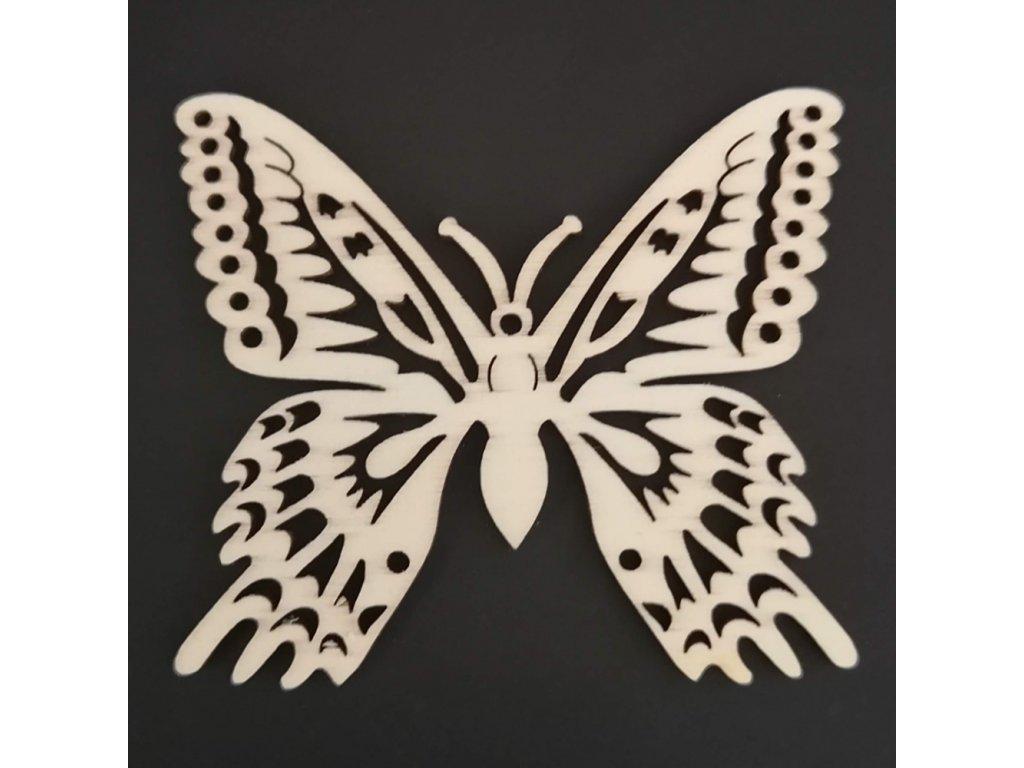 Dřevěná dekorace závěsná motýl k vymalování