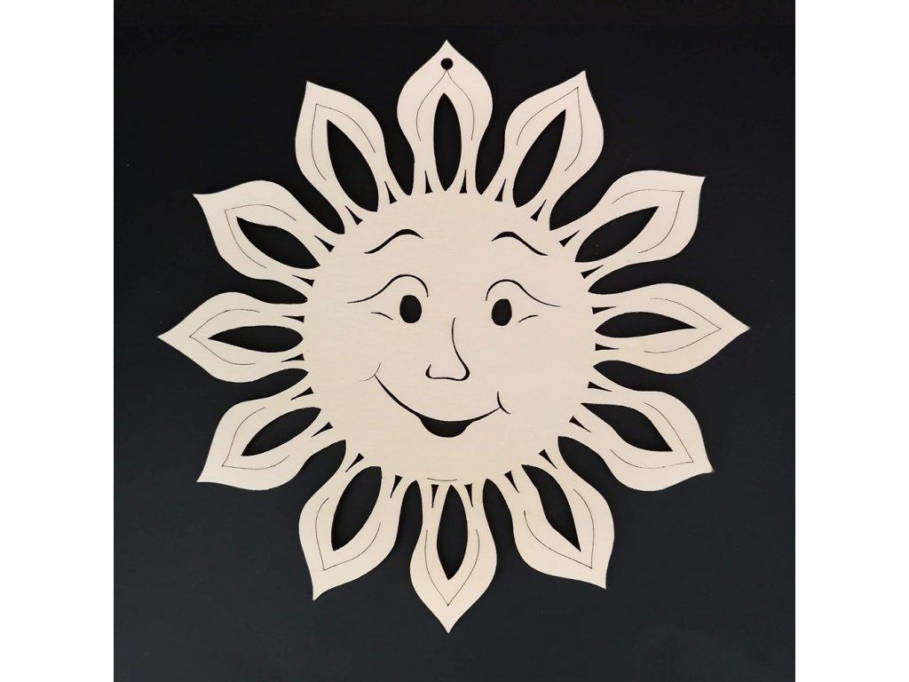 Dřevěná dekorace závěsná slunce k vymalování