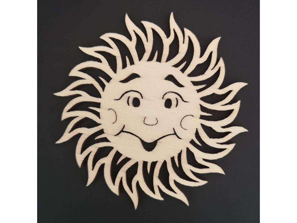 Dřevěná ozdoba slunce 7 cm