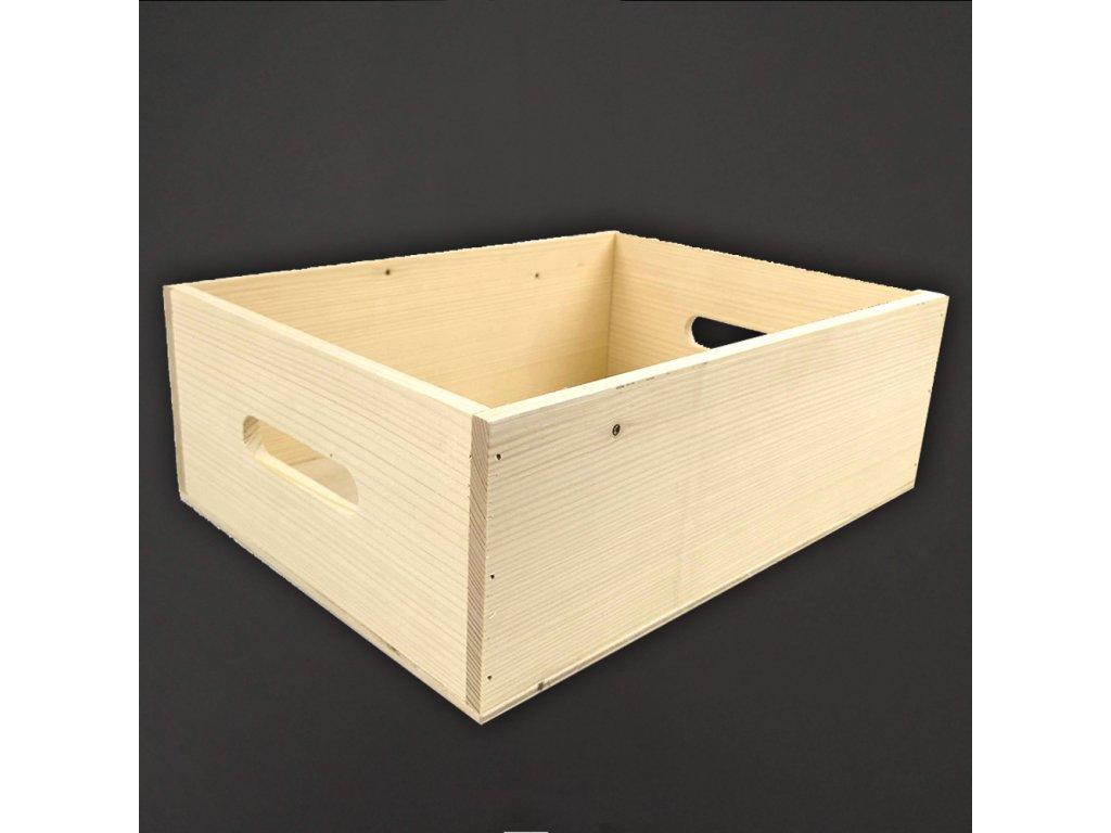 Dřevěná bedýnka z masivního dřeva, 39x29x13,5 cm