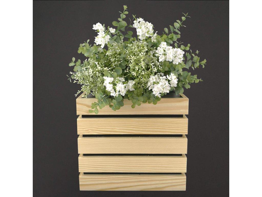 Květináč s dřevěným obalem