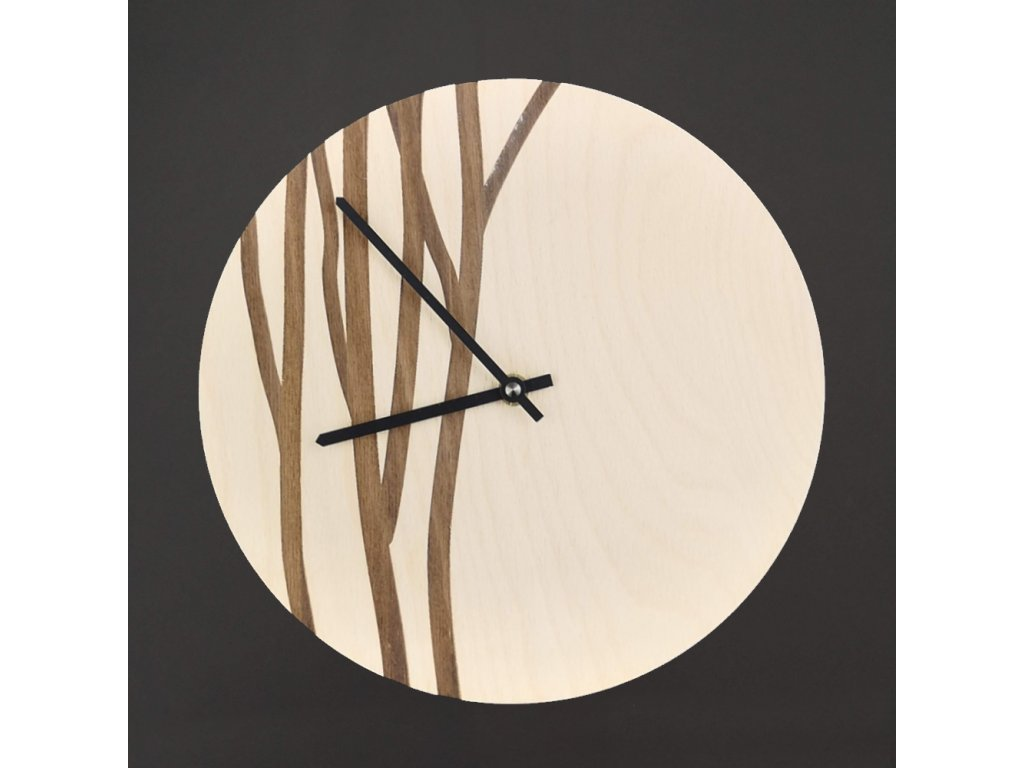Dřevěné hodiny nástěnné