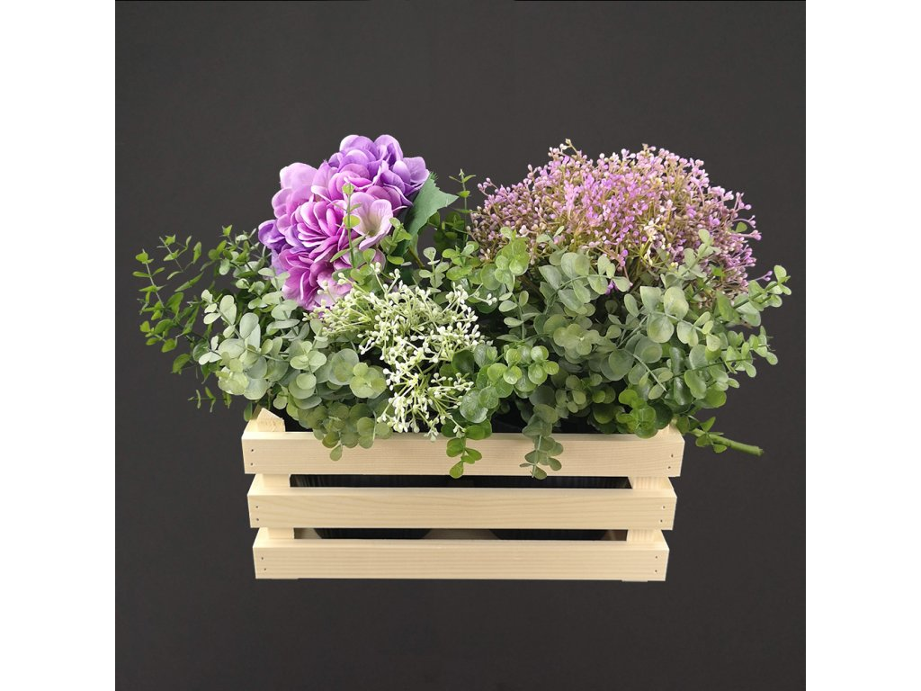 dřevěný obal na květináč