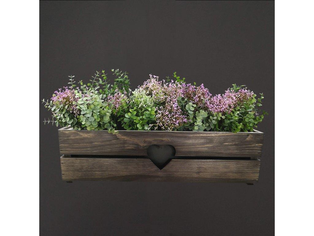 dřevěný obal na truhlík