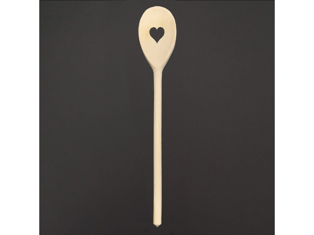 dřevěná vařečka se srdcem