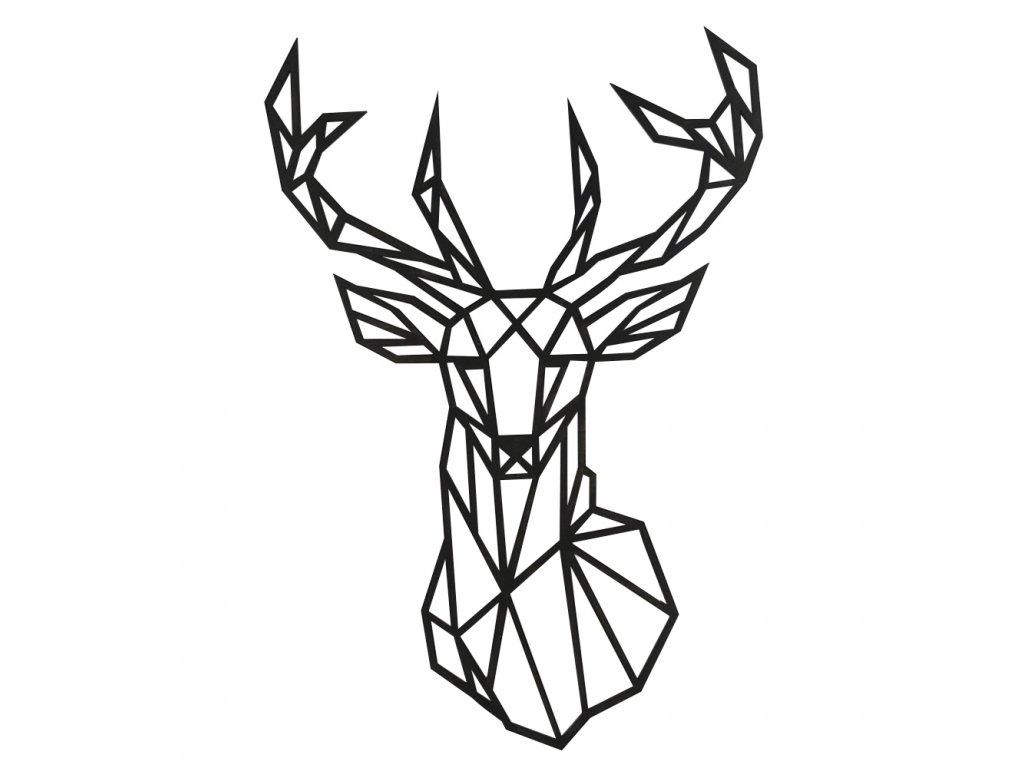 dřevěný jelen