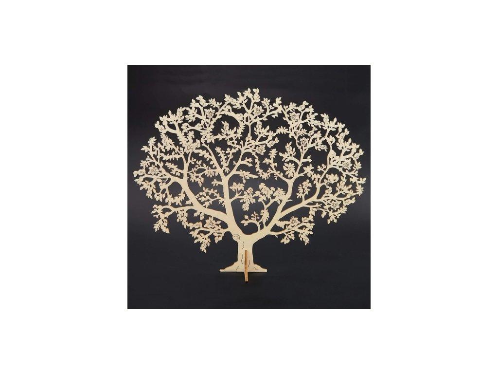 Dřevěný 3D strom, přírodní, 46 cm