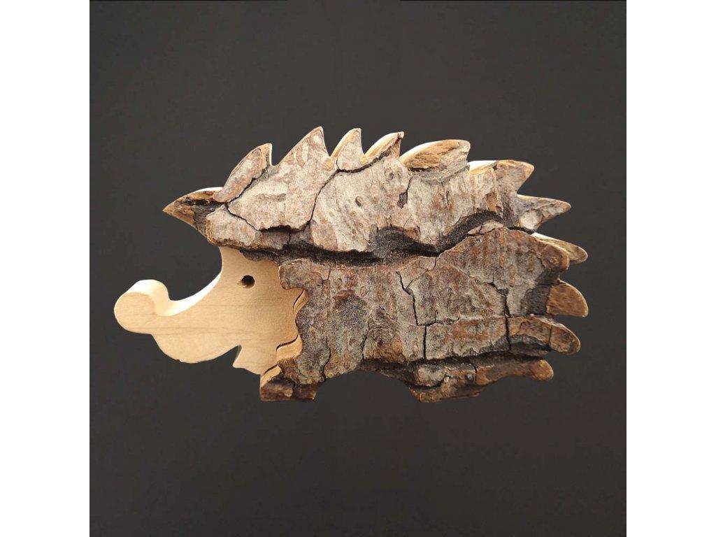 dřevěná dekorace ježek
