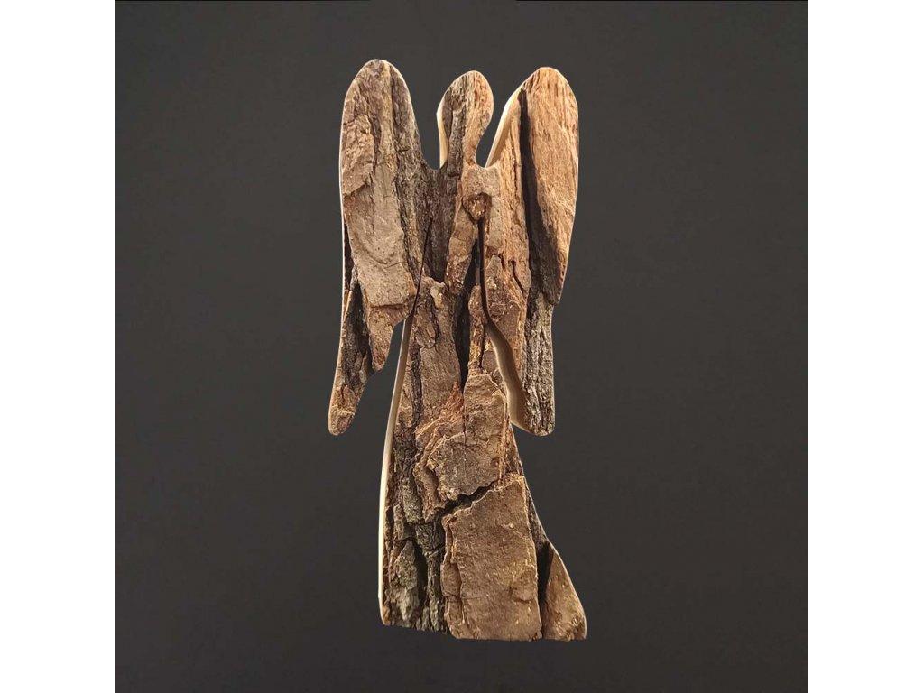 dřevěná dekorace anděl