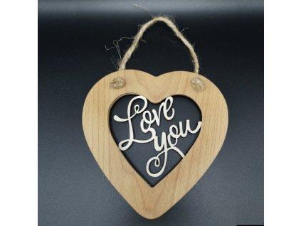 41458 srdce masiv prorez love you s provazkem