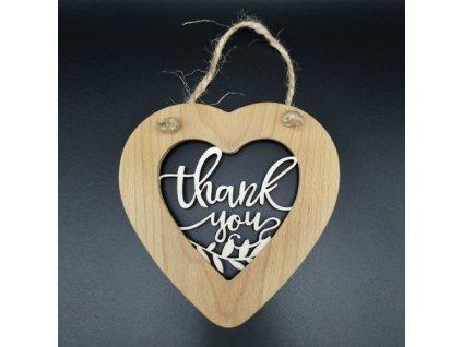 41459 srdce masiv prorez thank you s provazkem