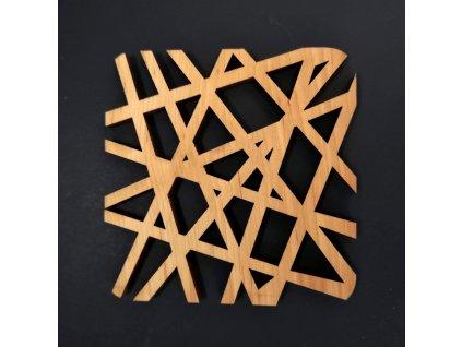 stolování dřevěný podtácek