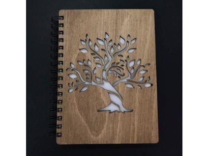 Dřevěný zápisník
