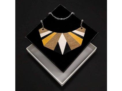 Dřevěný příívěsek na krk Etno, 8x3,5 cm