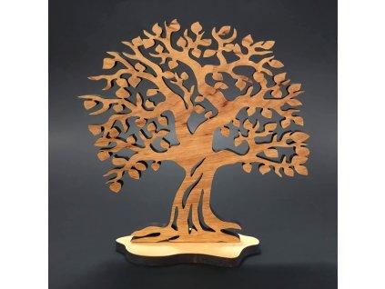 Dřevěny strom stojící, masivní dřevo, výška 19 cm