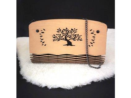 Dřevěná kabelka černá - strom 25 cm