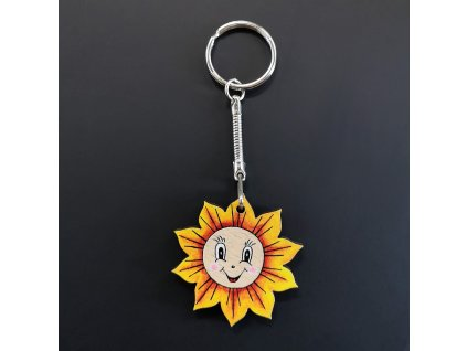 Klíčenka sluníčko 4 cm