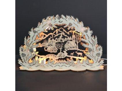 Vánoční svítící vesnička LED