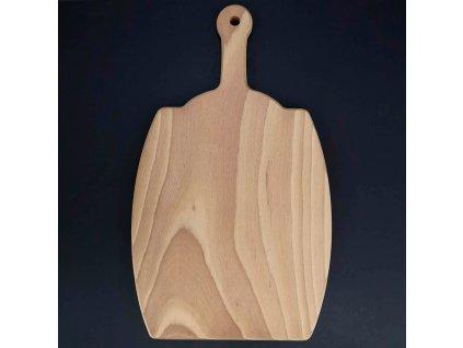 Dřevěné prkénko ve tvaru sudu, masivní dřevo, 36x21x1,5 cm