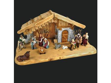 Dřevěný betlém BEZ FIGUREK 60 cm
