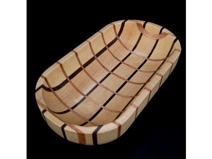 Dřevěná miska mozaika ovál