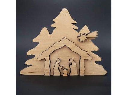 Dřevěný betlém