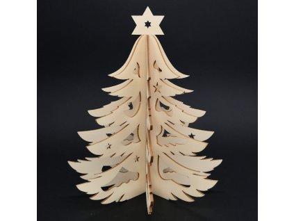 Dřevěný 3D stromek, výška 20 cm
