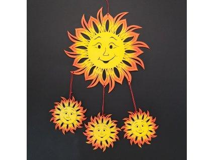 Dřevěná dekorace sluníčka, výška 70 cm