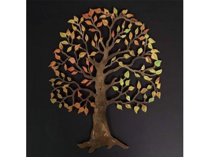 Dřevěný strom, barevná závěsná dekorace, výška 20 cm