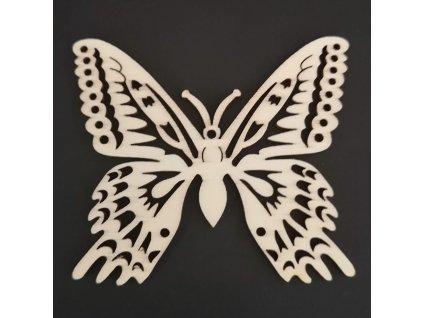 Dřevěná dekorace motýl 8 cm
