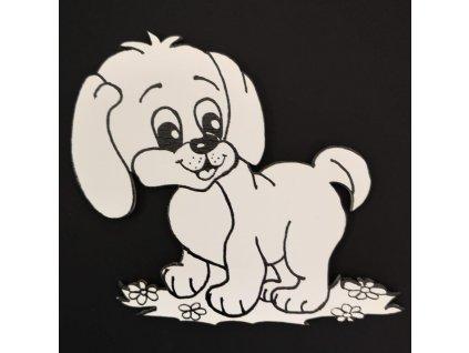 Magnet k domalování pes 10 cm
