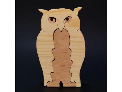 Dřevěné puzzle sova