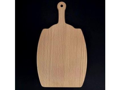 Dřevěné prkénko ve tvaru sudu, masivní dřevo, 25x14,6x1,1 cm