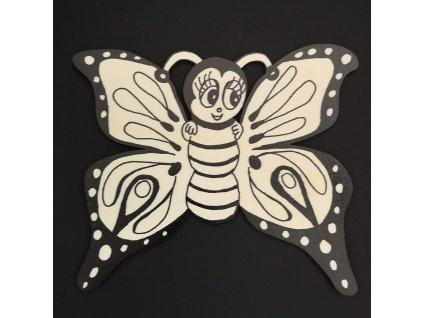 Magnet k domalování motýl 20 cm
