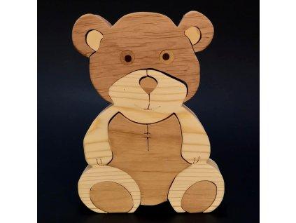 Dřevěné puzzle medvěd