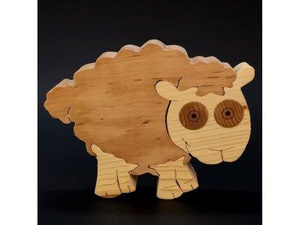 Dřevěné puzzle ovce