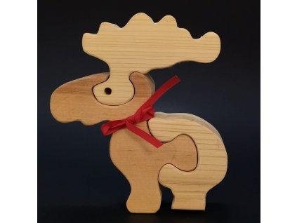 Dřevěné puzzle sob